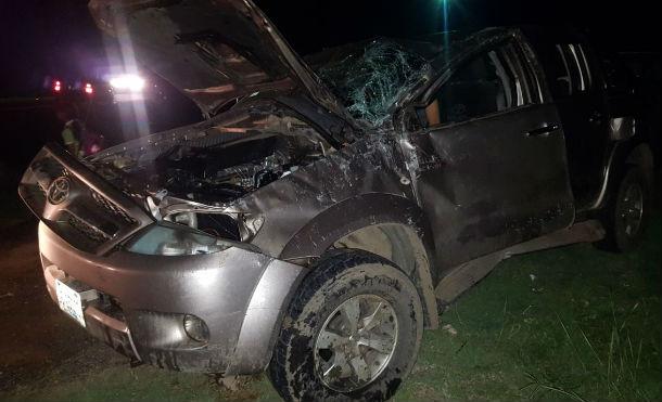 Dos lesionados en accidente de tránsito en la carretera a León