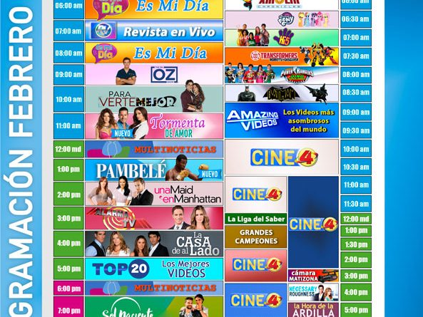 programacion canal4 febrero 2018
