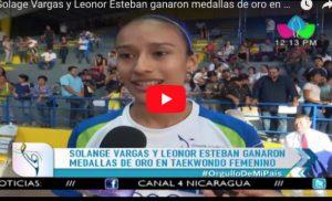 Solage Vargas y Leonor Esteban ganaron medallas de oro en Taekwondo Femenino