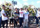 """Juventud Sandinista rinde homenaje al Tri Campeón del Mundo """"Alexis Argüello"""" en el 66 Aniversario de su natalicio"""