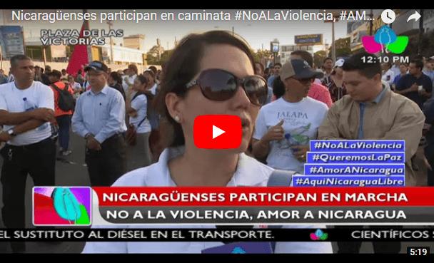 Nicaragüenses participan en caminata #NoALaViolencia, #AMORANICARAGUA