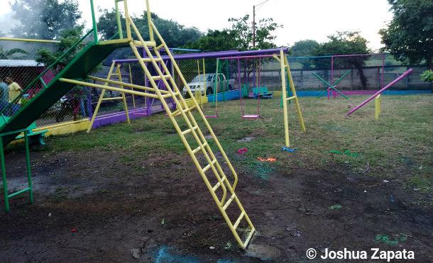 ALMA rehabilita parque en el barrio Carlos Núñez, del distrito VI de Managua
