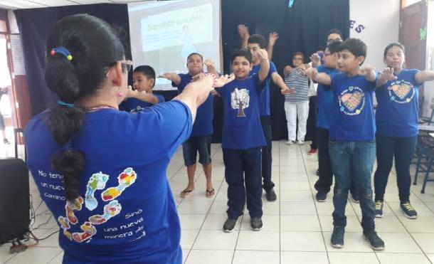 """MINED presenta proyecto """"Gimnasia Cerebral"""" para niños del colegio Melania Morales"""
