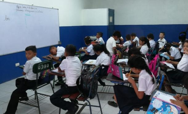 Chinandega: Inicia el II semestre de clases, con la reinauguración de la escuela San Agustín