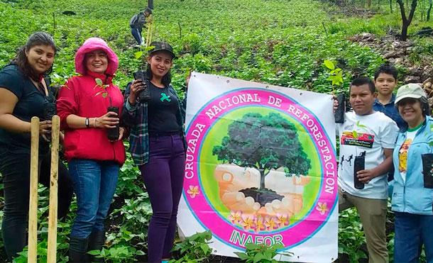 Matagalpa realizó jornada de reforestación en saludo al 40 aniversario de la revolución