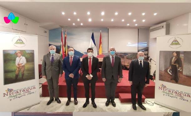 Izquierda a Derecha: Embajador de Grecia, embajador de Cuba, embajador de Nicaragua, Embajador de Venezuela y Embajador de Panamá / Foto: MINREX
