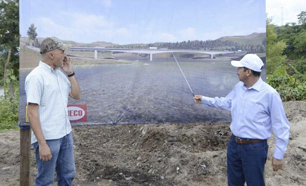 Foto Cortesía // El puente con una inversión superior a los 800 millones de córdobas tendrá una longitud de 313 metros