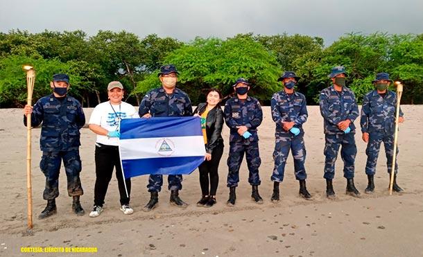 Durante la liberación, se emplearon15efectivos militares1lancha rápida y1lancha auxiliar. / Foto: Ejército de Nicaragua
