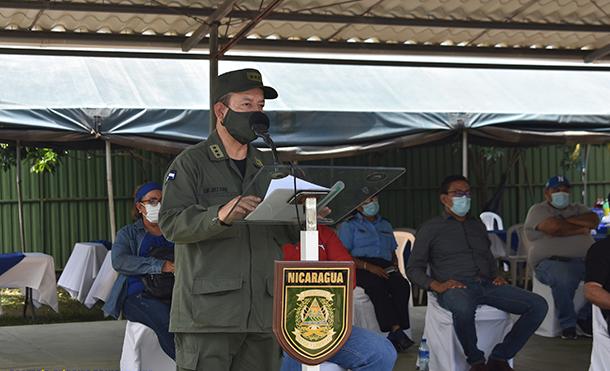 Foto Ejército de Nicaragua: En las instalaciones del Comando Militar Departamental del 4 Comando Militar Regional del Ejército de Nicaragua, se realizó acto de apertura del Plan de Protección y Seguridad a la Cosecha Cafetalera en Carazo.