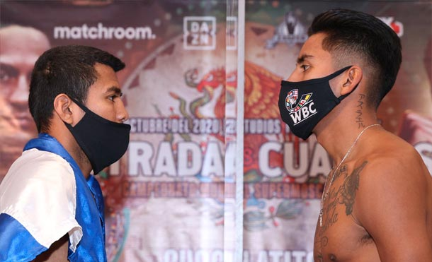 Román González e Israel González listos para la pelea de este viernes.