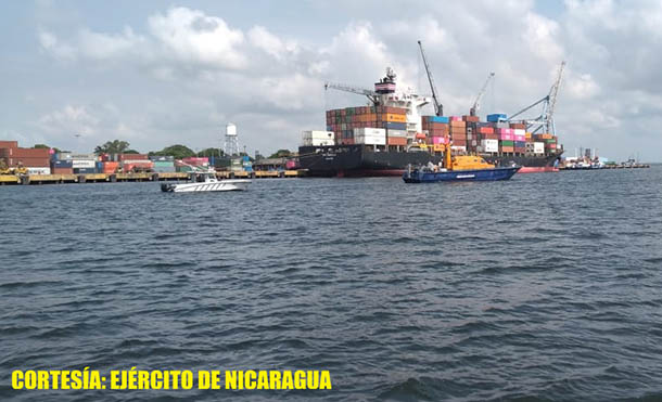 Foto Ejército de Nicaragua // Se emplearon 30 efectivos militares, 1 guardacostas y 2 lanchas rápidas