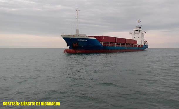 Foto Ejército de Nicaragua // Fuerza Naval brindó protección y seguridad a buques mercantes