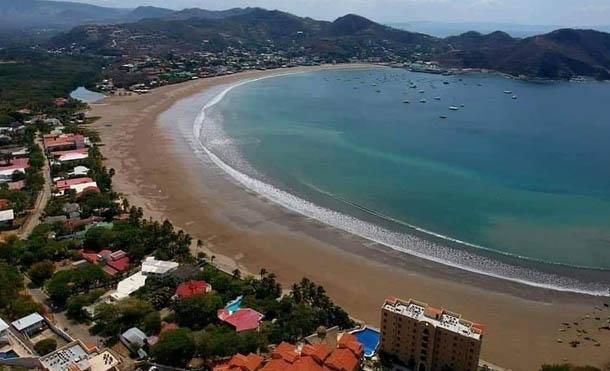Foto Jairo Cajina // Vista aérea de la Bahía de San Juan del Sur