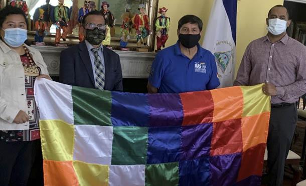 Foto CCC // Embajador de Nicaragua ante la OEA, Luis Alvarado y representantes del MAS