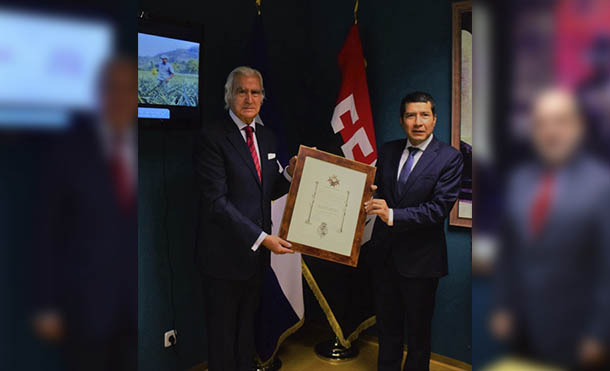 Foto CCC // Entrega de la Orden Iberoamericana General Infante Chaves con el Grado de Gran Cruz