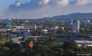 Vista panorámica de la ciudad de Managua, Nicaragua