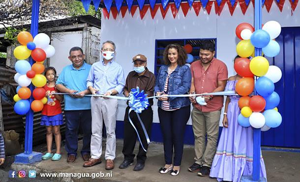 Foto Alcaldía de Managua // La vivienda fue entregada en el barrio Jonathan González