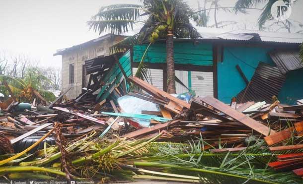 Foto JP: Primeras imágenes de la devastación causada por el poderoso Huracán IOTA de categoría 5 en Bilwi.