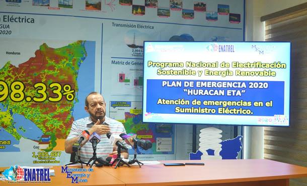 Foto ENATREL // Informe sobre el suministro eléctrico en el Caribe Norte tras el paso de ETA