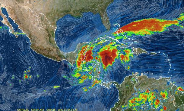 Foto Cortesía: Se espera que en el transcurso de la tarde de hoy salga de nuestro país y toque tierra en suelo hondureño en forma de depresión tropical.