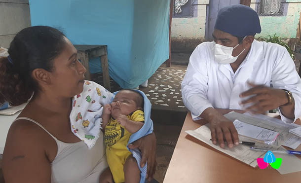Foto Multinoticias // La atención fue brindada por médicos del Centro de Salud Francisco Morazán