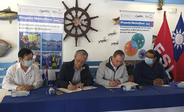 """Firma del acuerdo Específico de Ejecución del """"Proyecto de Maricultura en Nicaragua"""