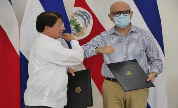 Foto CCC // Cancilleres de Nicaragua y Costa Rica