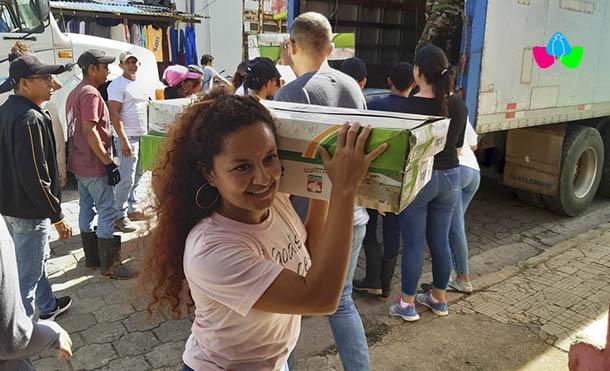 Foto Multinoticias // Se recibieron más paquetes de kit higiénicos, colchonetas, frazadas y cocinas