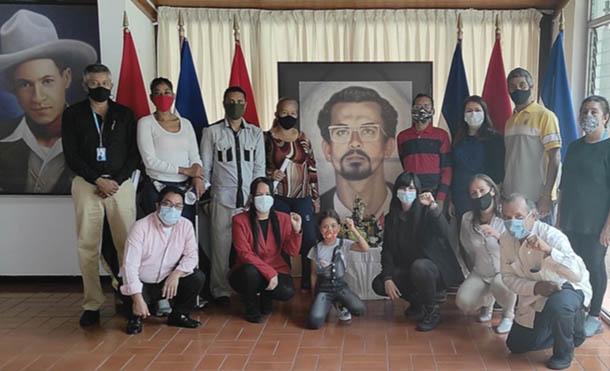 Foto CCC // Rinden homenaje al Comandante Carlos Fonseca en Venezuela