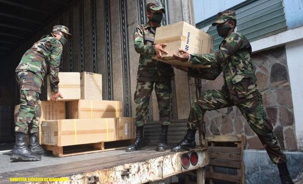 Foto Cortesía: Se descargó medicamentos, reactivos de laboratorio y material de reposición periódica contenidos en 748 cajas.