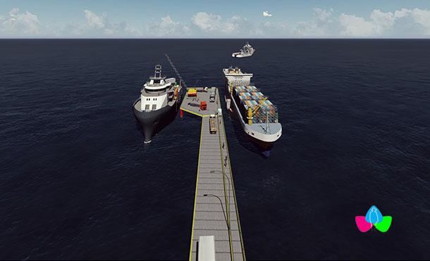 Se construiría con materiales resistentes con protección contra el ambiente marino corrosivo