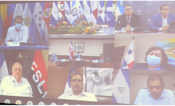Foto Cortesía: Reunión de Presidentes de Nicaragua, Honduras, Guatemala y Costa Rica, con Presidente y Directores del BCIE
