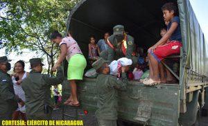 Foto Ejército de Nicaragua // Se realizó el retorno seguro de 324 personas, entre ellos 101 menores de edad