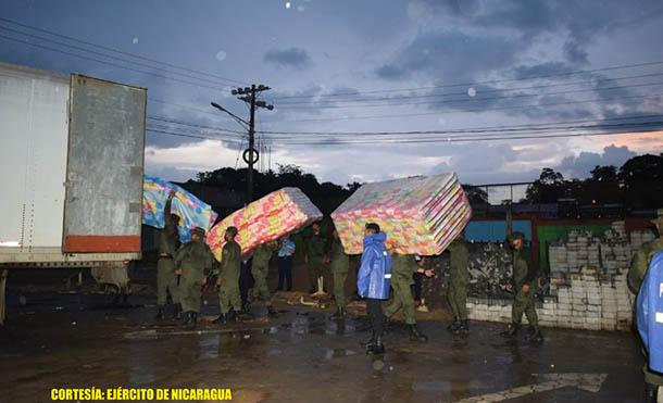 Foto Ejército de Nicaragua // Se emplearon 20 efectivos militares y 1 vehículo pesado