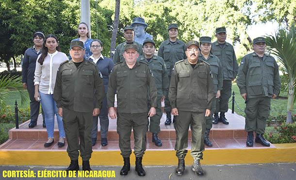 Foto Ejército de Nicaragua // Acto de Emulación Patriótica del año 2020