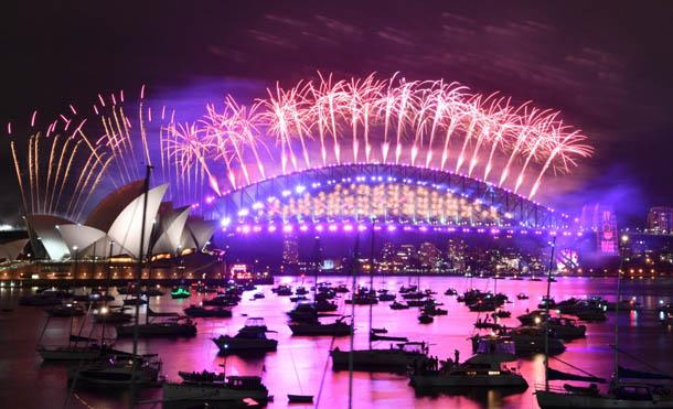 Foto Twitter Australia // Así se celebró el año nuevo en Sídney