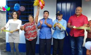 Foto Cortesía: Alcaldía de Managua y Embajada de Taiwán, junto a la Protagonista Compañera Delfa María Obando Téllez, en la entrega de la Vivienda Digna y Solidaria en el Barrio Bóer.