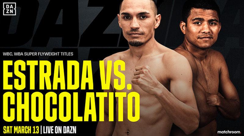 Arte oficial de la pelea Chocolatito vs Gallo Estrada
