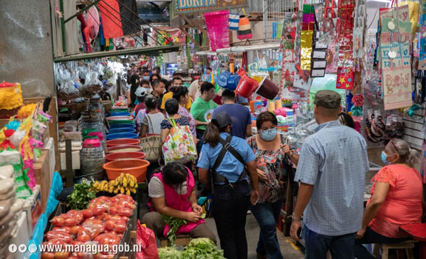 Foto Alcaldía de Managua // Autoridades capitalinas visitaron el mercado Roberto Huembés