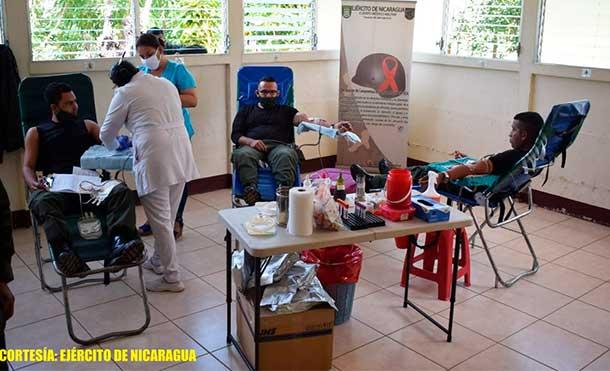 Foto Ejército de Nicaragua: Los efectivos militares cumplieron con las medidas de protección orientadas por el Ministerio de Salud