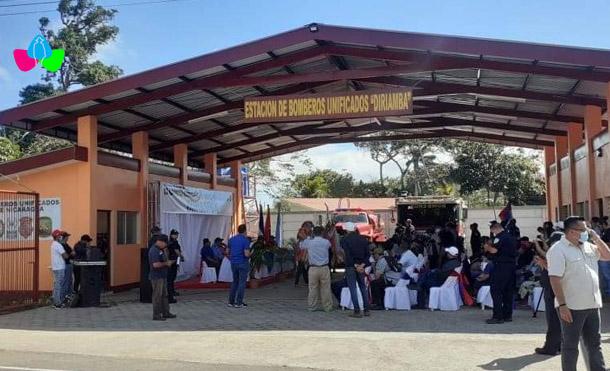 Foto Multinoticias // Esta es la estación básica de bomberos 101 que se inaugura