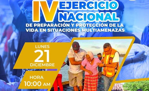 Foto SINAPRED // Este lunes 21 de diciembre se realizará el IV Ejercicio de Preparación para Proteger la Vida