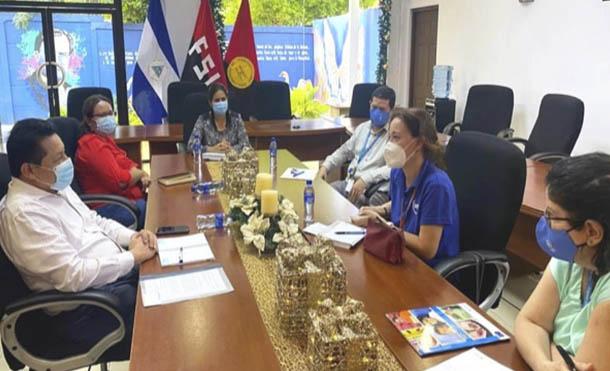 Foto MINED //MINED y PMA se reunen para fortalecer el programa de cooperación en Merienda Escolar