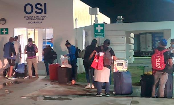 Foto: Cortesía / 154 nicaragüenses ingresaron al país por Peñas Blancas procedentes de Panamá.