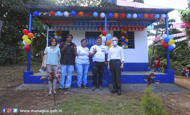Foto Alcaldía de Managua // Esta es la vivienda #346 que es entregada con apoyo de Taiwán