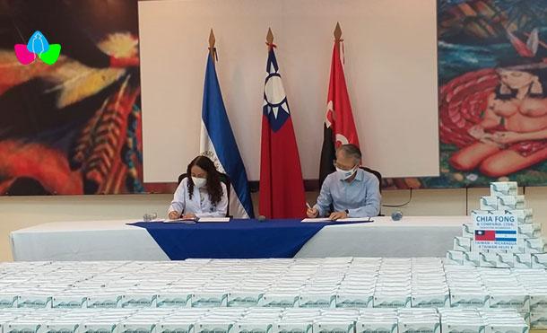 Foto Cortesía: El Embajador Jaime Wu, expresó que esta es la segunda donación realizada por la empresa al Ministerio de Salud.