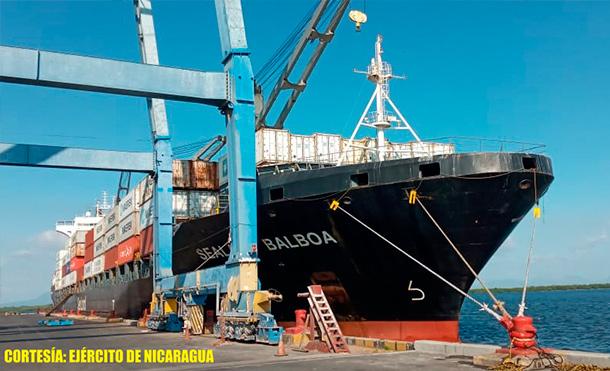 Durante la protección y seguridad de estas embarcaciones, se emplearon 42 efectivos militares, 1 buque logístico, 1 guardacostas, 2 lanchas rápidas y 1 lancha auxiliar. / Foto: Ejército de Nicaragua