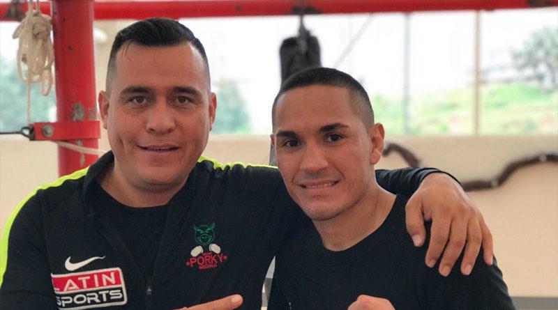 """Francisco """"Gallo"""" Estrada junto a Alfredo Caballero"""