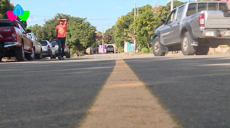 Gobierno de Nicaragua inauguró mejoramiento vial en el barrio Sol de Libertad