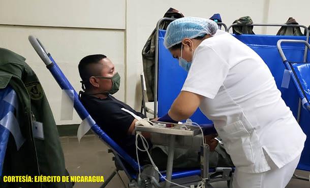 Foto Ejército de Nicaragua // La donación se realizó en la Escuela Nacional de Sargentos